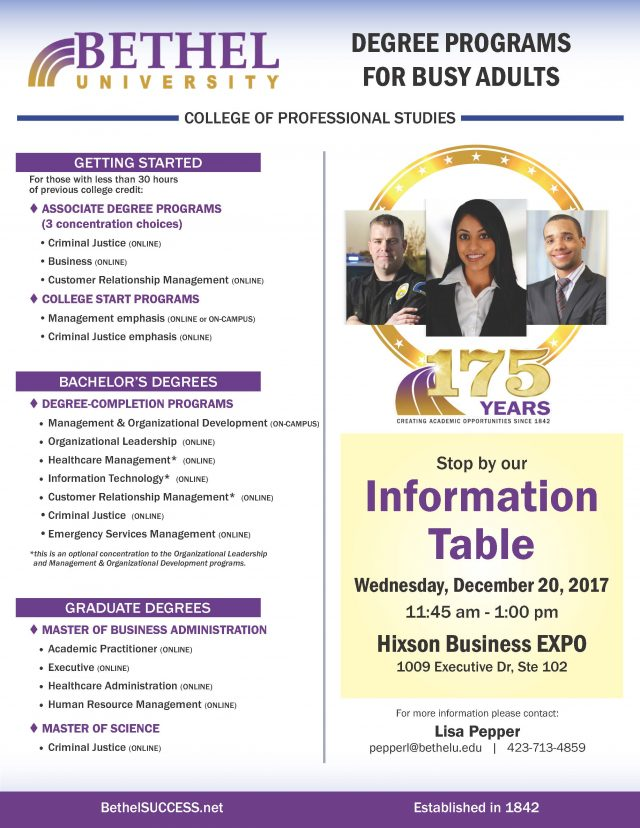 Bethel University information session